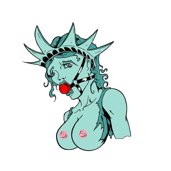 justice lady kissing statue liberty of Bunny must die! chelsea and the 7 devils