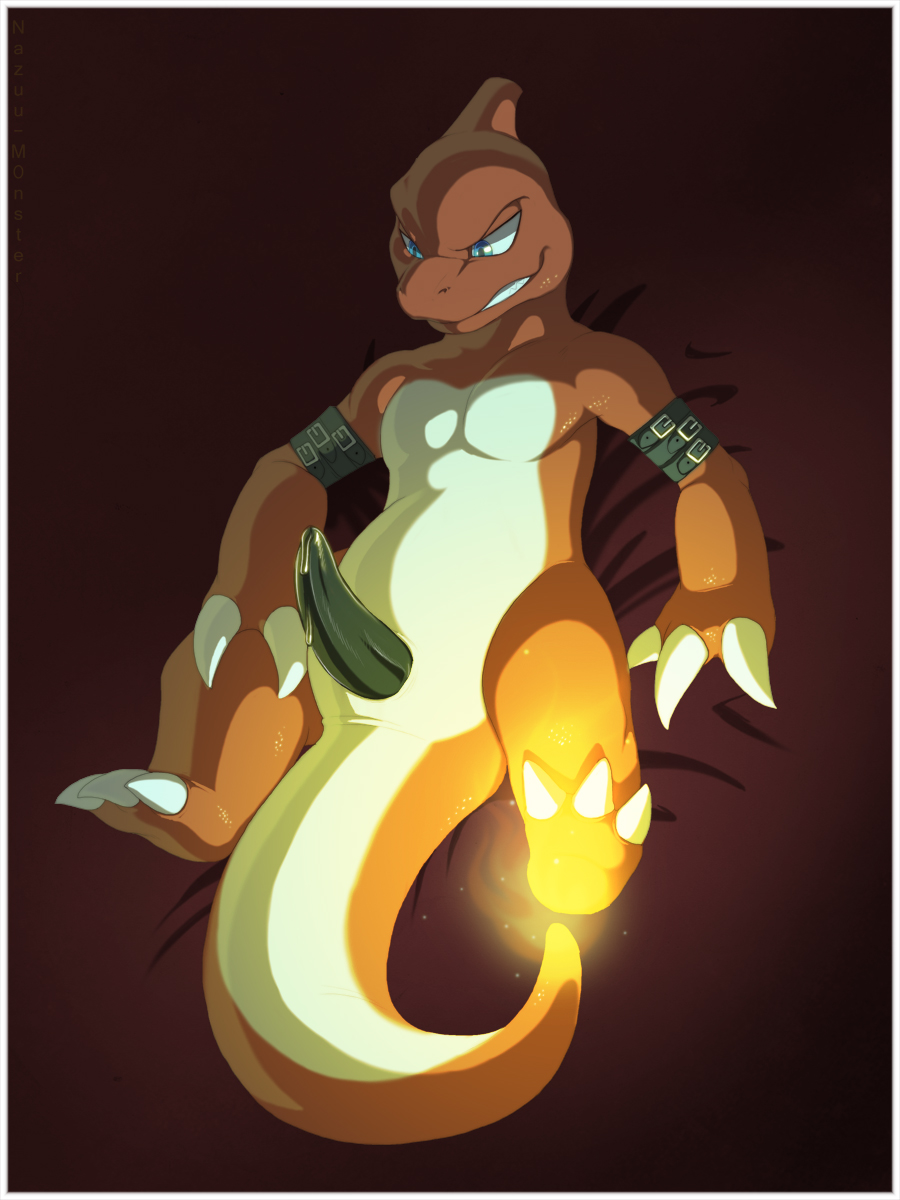 tail fire orange pokemon with Did you say moo?