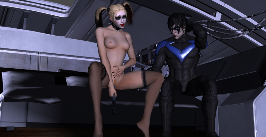 nightwing harley x porn quinn Connor detroit become human fanart